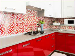 red kitchen backsplash ideas red backsplash tiles beautiful kitchen red glass mosaic tile