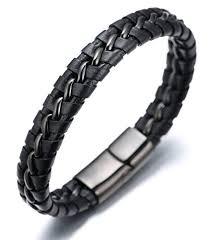 white leather bracelet images Halukakah quot solo quot men 39 s genuine leather bracelet with jpg