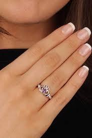 the claddagh ring february birthstone silver claddagh ring ls sl90 2 3d