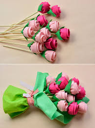 felt flowers s day gift how to make a felt flower bouquet 4 steps