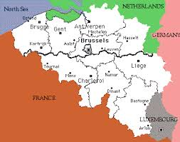 belgium language map belgium overview
