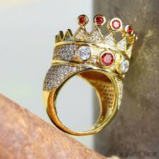 gold crown rings images King ice 14k gold cz crown ring kingice jpeg