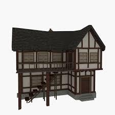 3d model house beams frames