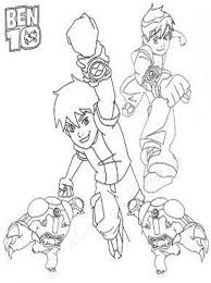 kids ben 10 coloring pages
