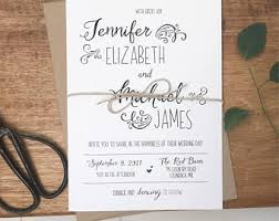 Rustic Wedding Invites Wedding Invitations Wedding Stationery By Loveofcreating On