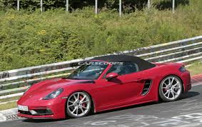 red porsche boxster undisguised porsche 718 boxster gts shows up at the ring
