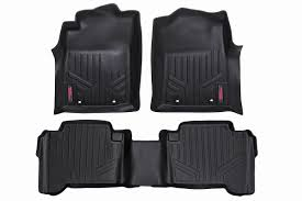 toyota tacoma floor mat heavy duty fitted floor mat set front rear for 2012 2015 toyota