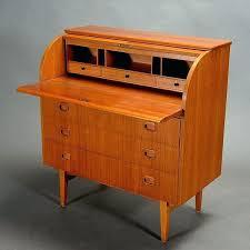 teak roll top desk mid century modern roll top desk desk vintage teak roll top desk