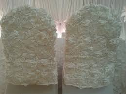 rosette chair covers couture linens