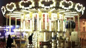 an fashioned carousel or merry go stock footage