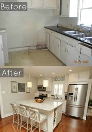 before and after of our 1940 u0027s bungalows kitchen
