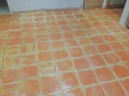 kitchen floor old terracotta floor after cleaning in shenley