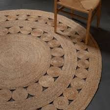 Round Natural Fiber Rug Flooring Living Space By Round Jute Rug