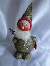 vintage german gnome pixie ornament container