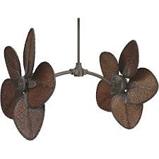 ceiling fan dual head outdoor ceilingans oscillating motor newan