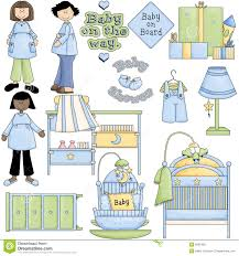 Baby Shower Clip Art Free - baby shower presents for a boy blue boy baby shower clipart