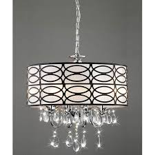 Chandeliers With Shades And Crystals by Indoor 4 Light Chrome Crystal Antique Bronze Shade Chandelier