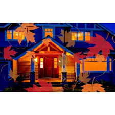 themed outdoor motion light projector dailysale