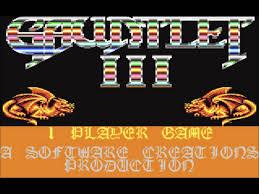 gauntlet iii c64 music title screen youtube