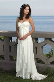 flowing wedding dresses white empire wedding dress with flowing skirt wedding