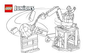 lego juniors bulldozer truck coloring page coloring pages