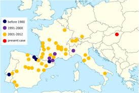 updated map of europe map of europe showing the spread of bovine besnoitiosis open i