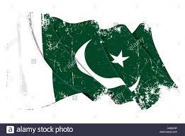 Pakistane Flag Grunge Vector Illustration Of A Waving Pakistani Flag All