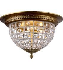 gold flush mount light elegant lighting 1205f18fg rc olivia 3 light 18 inch french gold