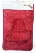 Burgundy Bathroom Rugs Memory Foam Red Bathmats Rugs U0026 Toilet Covers Ebay