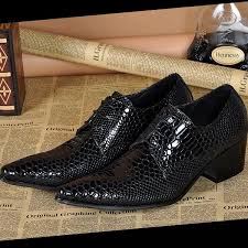 wedding shoes office high quality snake leather men s shoes retrostyle business