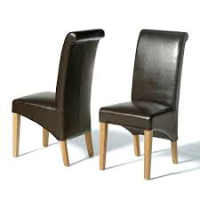Dining Chairs Black Faux Leather High Back Dining Chairs Most