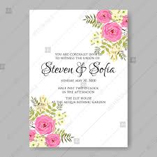 invitation marriage pink roses bridal flowers marriage wedding invitations vector