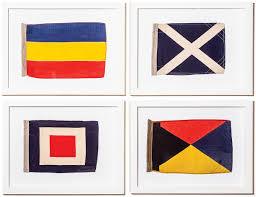 Nautical Code Flags Vintage Nautical Flags From Room U0026 Board U2013 Boston Magazine