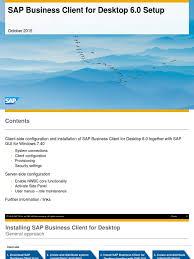 sap business client for desktop 6 0 setup hypertext transfer