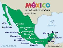 map of mexico resorts map of mexico resort cities major tourist attractions maps