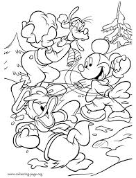 mickey mouse holiday coloring pages mickey mouse mickey donald duck and goofy having fun coloring page