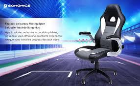 fauteuil de bureau sport songmics obg28g chaise de bureau pour ordinateur amazon fr cuisine