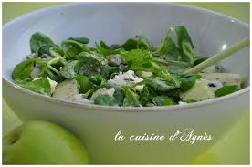citronnelle cuisine salade de roquefort pomme et citronnelle la cuisine d agnèsla