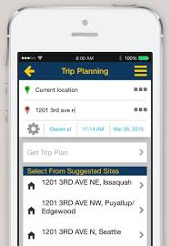 Map Route Planner by Iphone And Android App Trip Planner King County Metro Transit