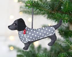 dachshund ornament polymer clay