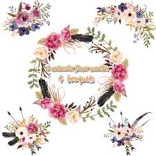 wedding flowers png 1 watercolor flower wreathes 4 flower bouquet floral frame png