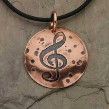 copper jewelry necklace images Copper pendant treble clef tom 39 s foolery chainmaille jewelry jpg
