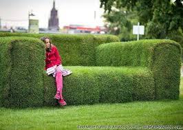 sofa in sofa in a park in frankfurt am germany