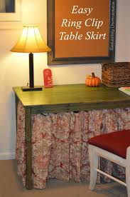 ring clip skirted table easy diy exquisitely unremarkable
