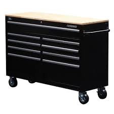 home depot black friday folding cart husky 52 in w 9 drawer mobile work bench black drawers