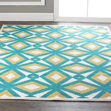 Yellow And White Outdoor Rug Rugs Teal And Yellow Area Rug Yylcco For Intended Decor 16