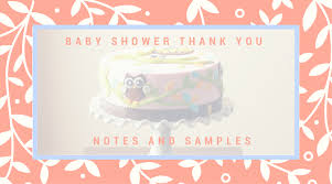 baby shower thank you notes baby shower thank you note sles