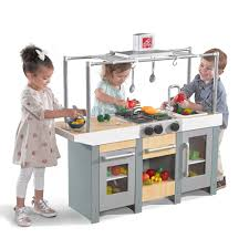 uptown urban wood kitchen u0026 island play kitchens step2