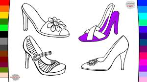 women u0027s shoes coloring pages youtube
