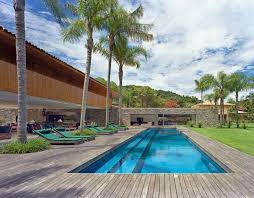 Small Backyard Pool Landscaping Ideas by Outdoor U0026 Landscaping Endearing Wooden Flooring Around Blue Pool
